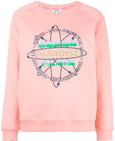 Kenzo paradise logo sweatshirt - women - Cotton - M