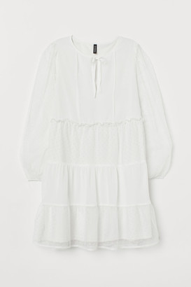 H&M Short Chiffon Dress - White