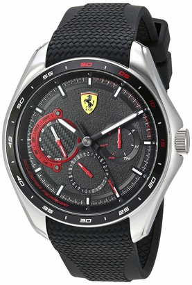 Ferrari Men's SPEEDRACER Stainless Steel Quartz Watch with Silicone Strap