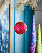 Playful Brights Collection Hot Pink/Green Crisscross Ornament