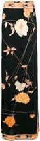 Floral-Print Wrap Maxi Skirt