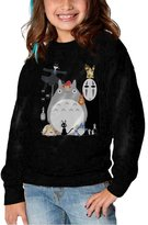 Fuchsuchs Toddler Funny Quotes Studio Ghibli Gang Size Round Collar Pullover Sweater