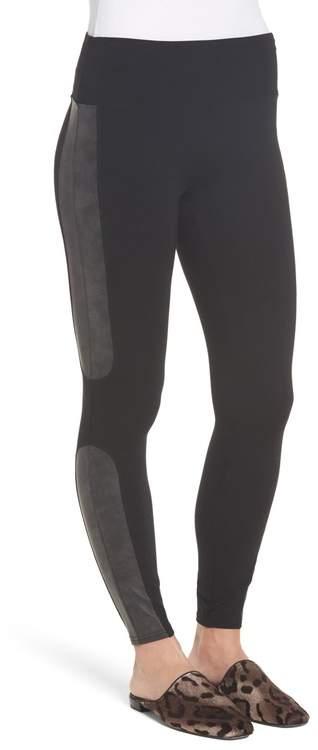 a2f699b187962a Faux Leather Front Leggings - ShopStyle