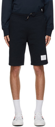 Thom Browne Navy Loopback RWB Sweat Shorts