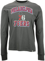 '47 Men's Long-Sleeve Philadelphia 76ers Flanker T-Shirt