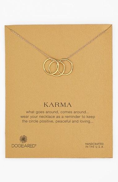 Dogeared 'Karma' Charm Necklace
