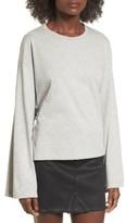Lush Women's Tie Back Bell Sleeve Top
