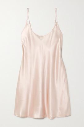 La Perla Silk-satin Chemise - Pink
