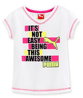 Puma Girls' 2T-6X White 'Awesome' Tee