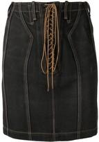 Alaia Pre Owned high-waist denim skirt