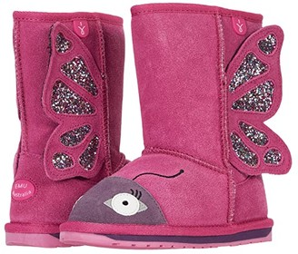 Emu Butterfly (Toddler/Little Kid/Big Kid) (Deep Pink) Girl's Shoes
