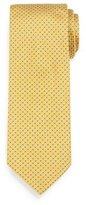 Brioni Micro-Square Neat Silk Tie, Yellow