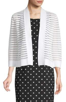 Kasper Illusion Stripe Cardigan