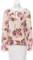 Carolina Herrera Silk Floral Print Blouse