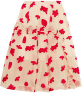 Simone Rocha Embroidered cotton-blend tulle skirt