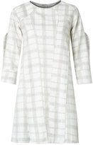 Andrea Bogosian - plaid shift dress - women - Linen/Flax/Viscose/Wool - PP