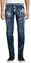 G Star G-Star Paint-Splatter Denim Moto Jeans, Extreme Painted