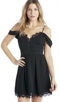 Sole Society Bluff Lace Trim Mini Dress