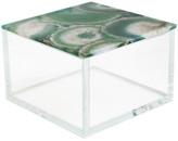Jay Import Multi Agate Lid Glass Box