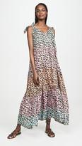 Juliet Dunn Leopard Print Maxi Cover Up Dress
