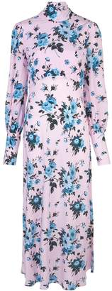 Les Rêveries floral long-sleeve maxi dress