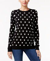 Charter Club Petite Polka-Dot Sweater, Only at Macy's