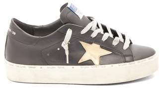 Golden Goose Hi Star Low-top Leather Trainers - Womens - Black Gold
