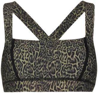 The Upside Maria leopard print sports bra
