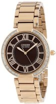 Citizen Women's EM0103-57X d'Orsay Eco-Drive Rose Gold Tone Watch