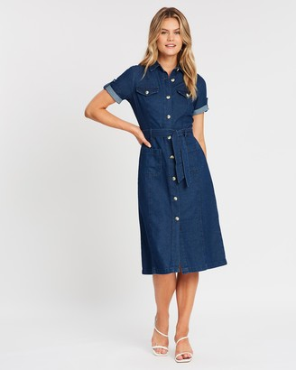 Dorothy Perkins SS Denim Shirt-Dress