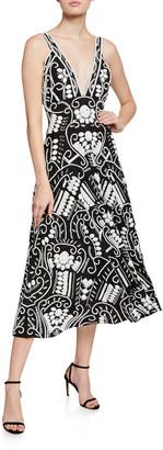 Alexis Brigida Embroidered Long Dress