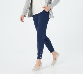 Denim & Co. Active French Terry Ankle Length Joggers w/ Snap Cuff