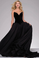 Jovani Velvet Top A-line Prom Gown 46606