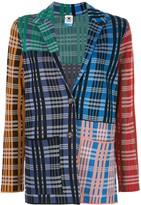 M Missoni patchwork check print blazer