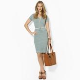 Lauren Ralph Lauren Ralph Striped Cotton Chambray Dress