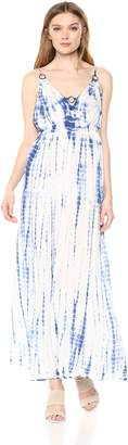 En Creme Women's Sleeveless Tiedye Maxi Dress