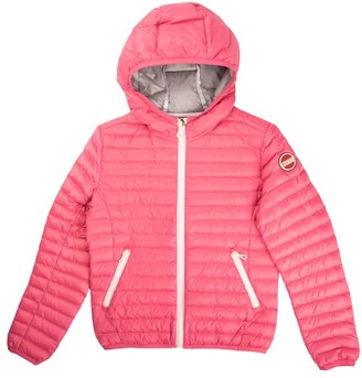 Colmar Feather Jacket With Pink Hood