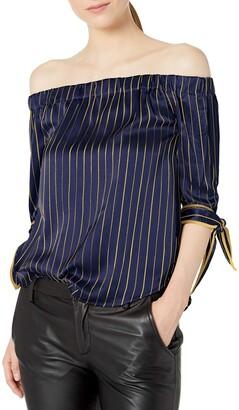 Blu Pepper Women's 3/4 Sleeve Striped Juliet Top