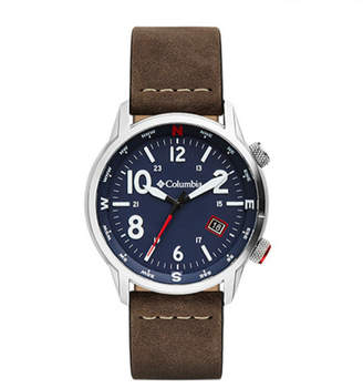 Columbia Men Outbacker Brown Leather Strap Watch 42mm