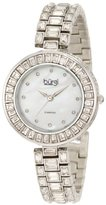 Burgi Women's BUR062SS Mother-Of-Pearl Diamond Bracelet Watch