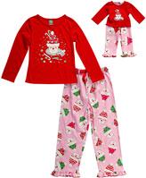 Dollie & Me Red Santa Cupcake Pajama Set & Doll Outfit - Girls