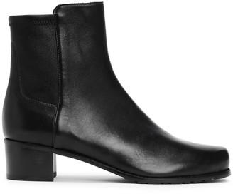 Stuart Weitzman Easyon Reserve Paneled Leather Ankle Boots