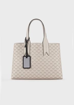 Emporio Armani Handbag With All-Over Eagle