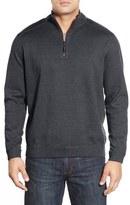 Tommy Bahama 'New Flip Side Pro' Reversible Quarter Zip Sweater (Big & Tall)