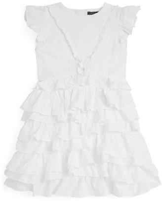 Velveteen Geena Tiered Ruffle Dress (8-12 Years)