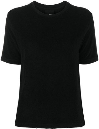 Thom Krom distressed hem round neck T-shirt