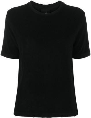 Thom Krom distressed hem round neck T-shirt
