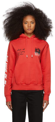 Off-White Red Monalisa Hoodie