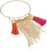 Cara Wire Bangle with Tassels Charm Bracelet