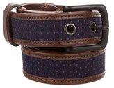 Rag & Bone Leather-Trimmed Polka Dot Belt